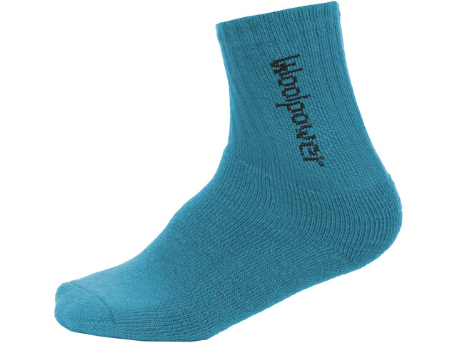Woolpower 400 Classic Logo Chaussettes Enfant, dolphin blue